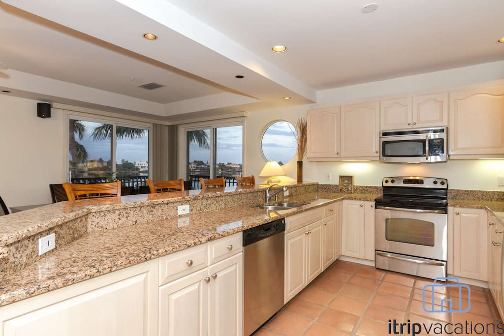 Abundance of natural light in this well appointed kitchen with all of the amenities of home