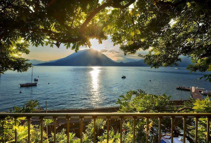 Varenna First  balcony overlooking lake of Como