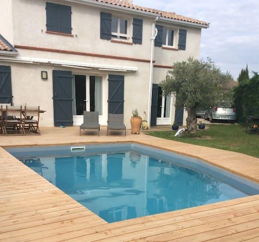 Agréable maison avec piscine - Quint-Fonsegrives - Casa