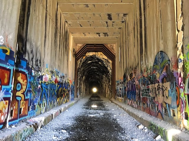 The abandoned Donner Summit Train Tunnels hike