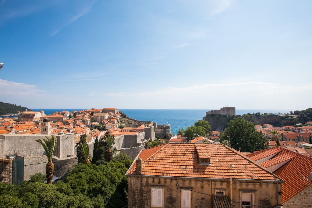 Breathtaking view of Old City Dubrovnik and its walls