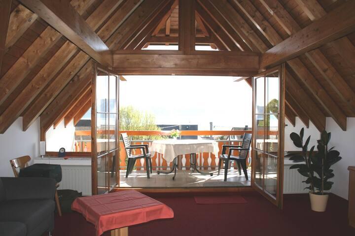 Gästehaus St. Martin, (Sipplingen), Doppelzimmer Mainau, 34 qm