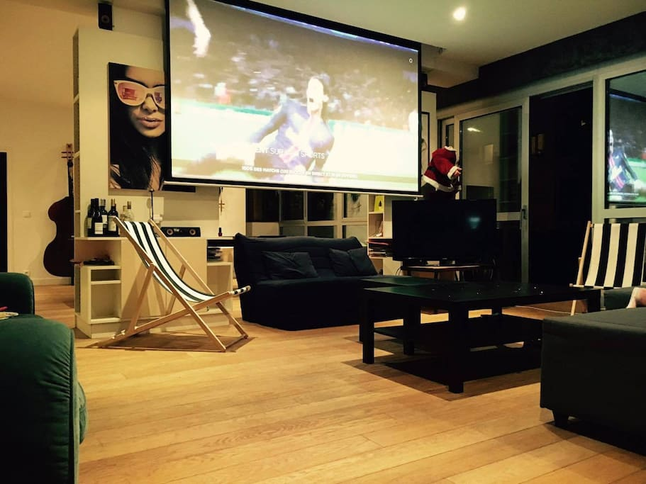 Watch every game on a huge screen.