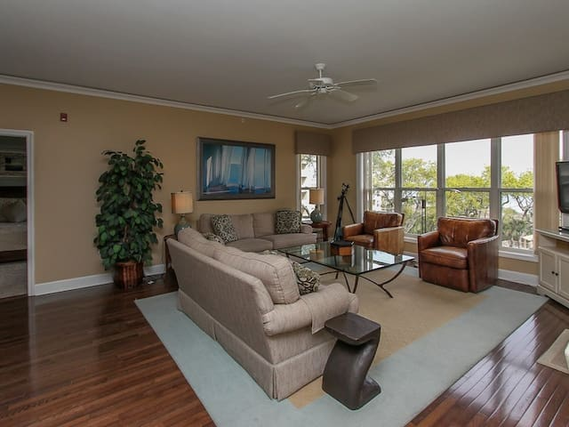 Living Room with Ocean Views at 6401 Hampton Place