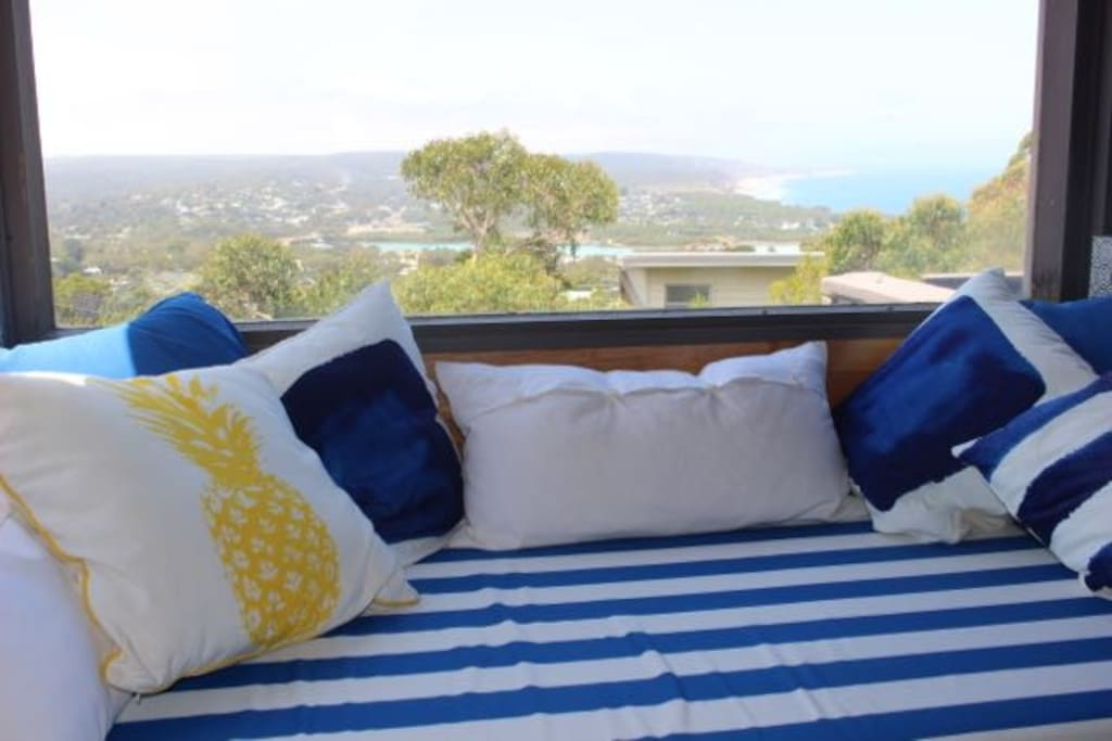 Daybed is the perfect place to enjoy the view