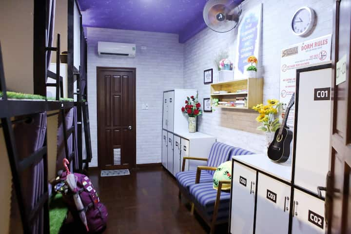 S Phuot Airport Hostel (Couple beds in dorm)