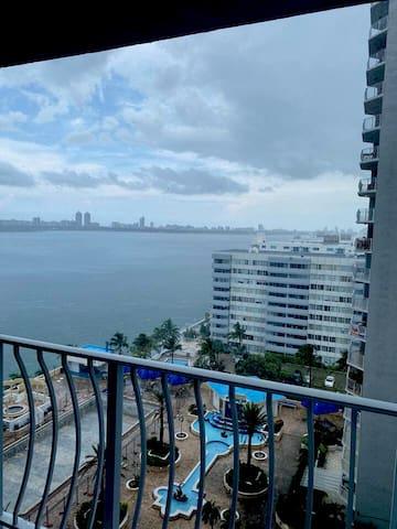 Water view balcony