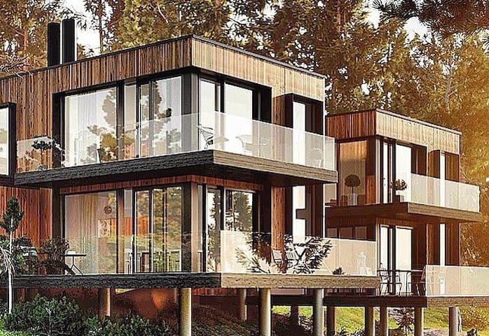 Modernt hus utanför stan - Saltsjöbaden - Casa