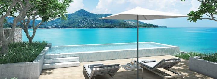 Amazing Beachfront Apartment seaview infinity pool