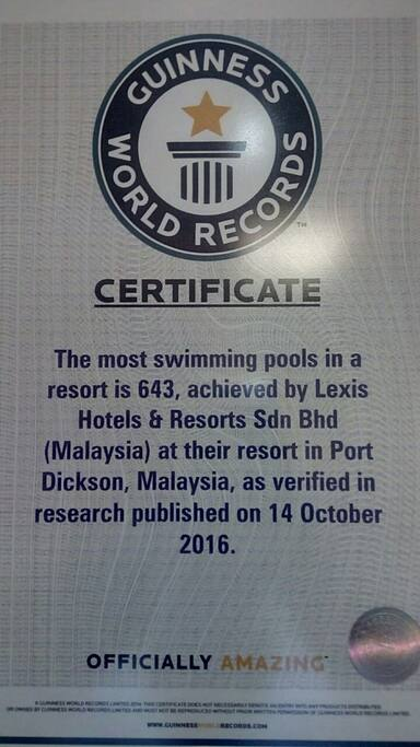 Guinness World Record for Most Swimming Pool