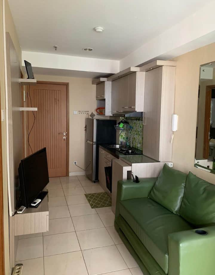 Entire apartment with 1 bedroom and 1 working room