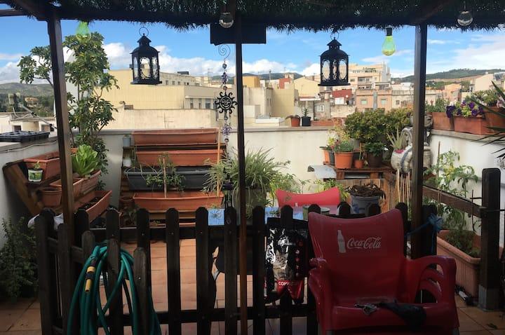 Habitación y baño privado en 1 dúplex +2 terrazas!