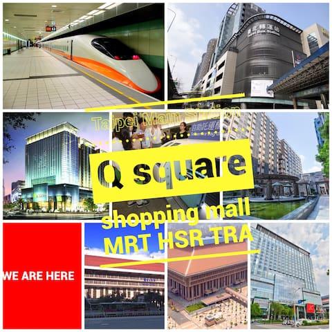 A:MRTTaipeiMainStation/TRA/THSR/AirportBus station