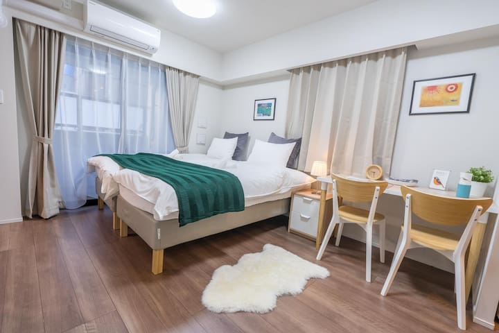 New!HotelQuality·Ginza area·5min to stn#Max3* 402*
