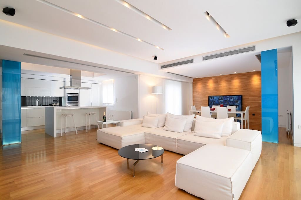 Comfortable couch in the spacious living room