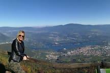 Panoramica Val di Non vista da Monte Cles