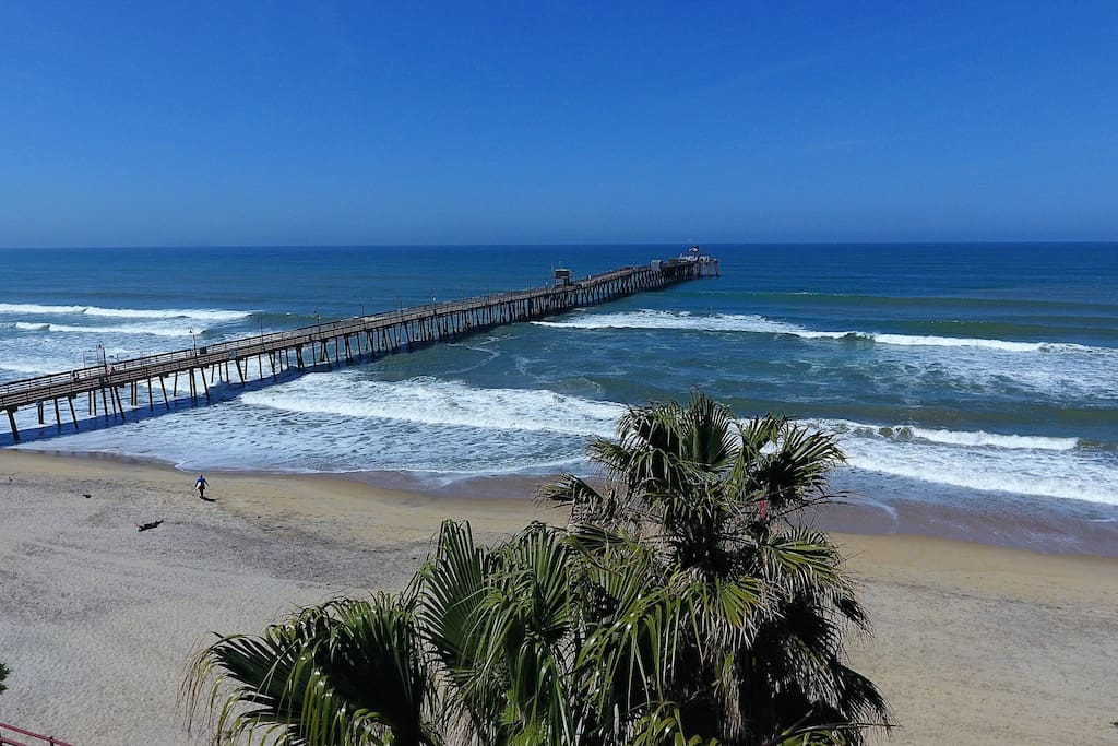 Wide view of pier across street from our Condo