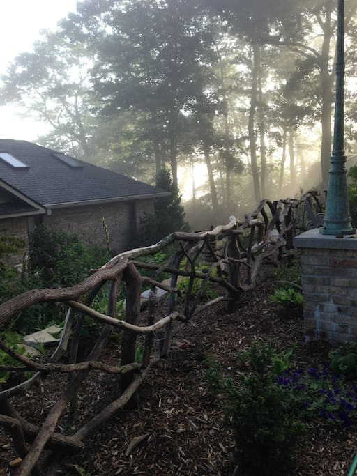 Misty morning at Light Feather Retreat