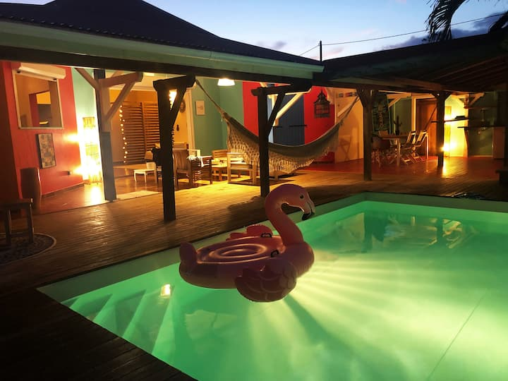 """""""Casa Bohème"""" Villa 4 ch climatisées piscine + spa"""