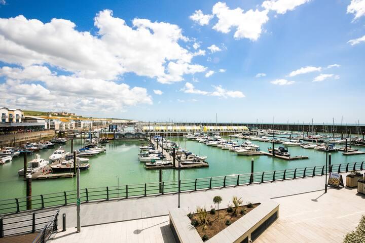 View from the balcony, The Marina