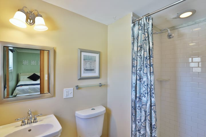 Bathroom in one of our 2 double rooms.