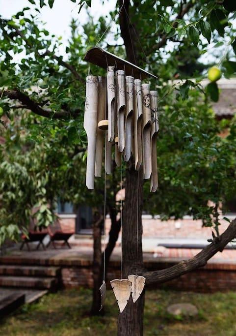 栗子院庭院的風鈴。