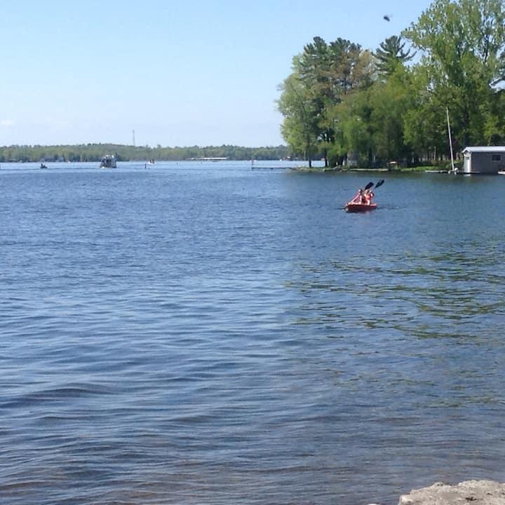 Lg Master bdrm ensuite, den, on Lake,  water toys.