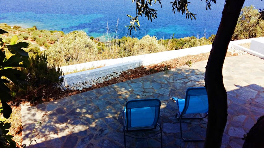 Sea view/BBQ/5min walk from beach - Sporades - Huis
