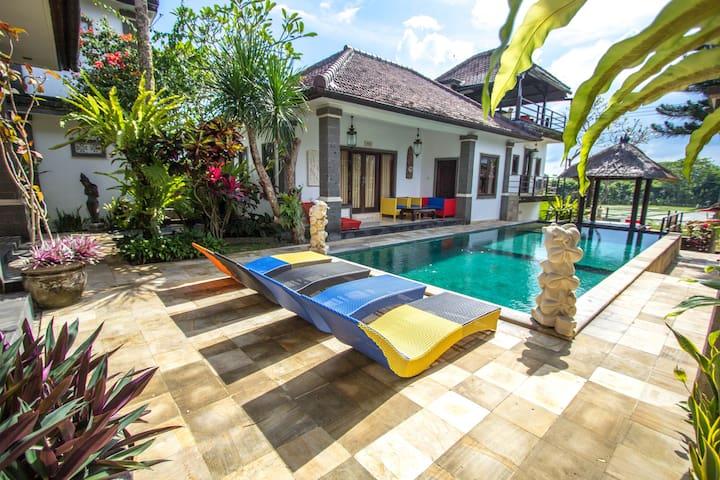 Java Room Pool Access+Ricefield @ Balam Bali Villa - South Kuta - Bed & Breakfast