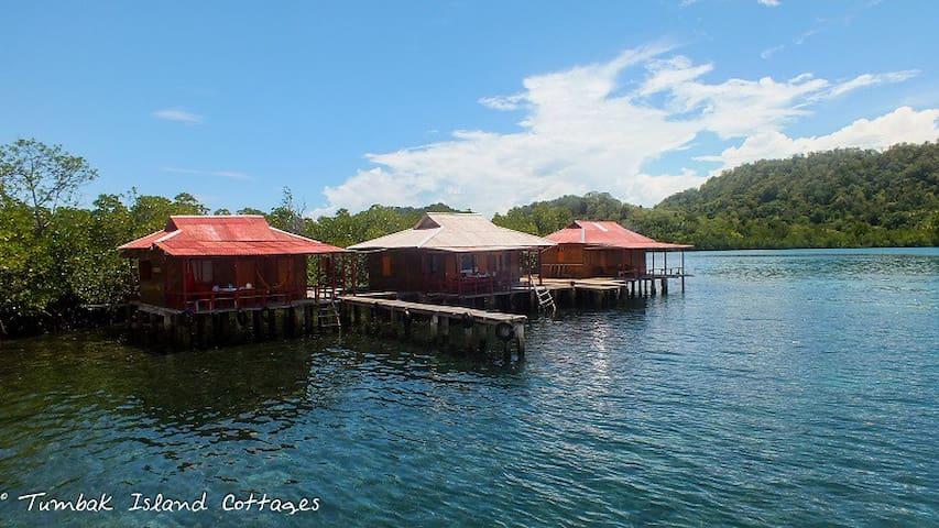 Tumbak Island Cottages (water-cottages) - Bentenah