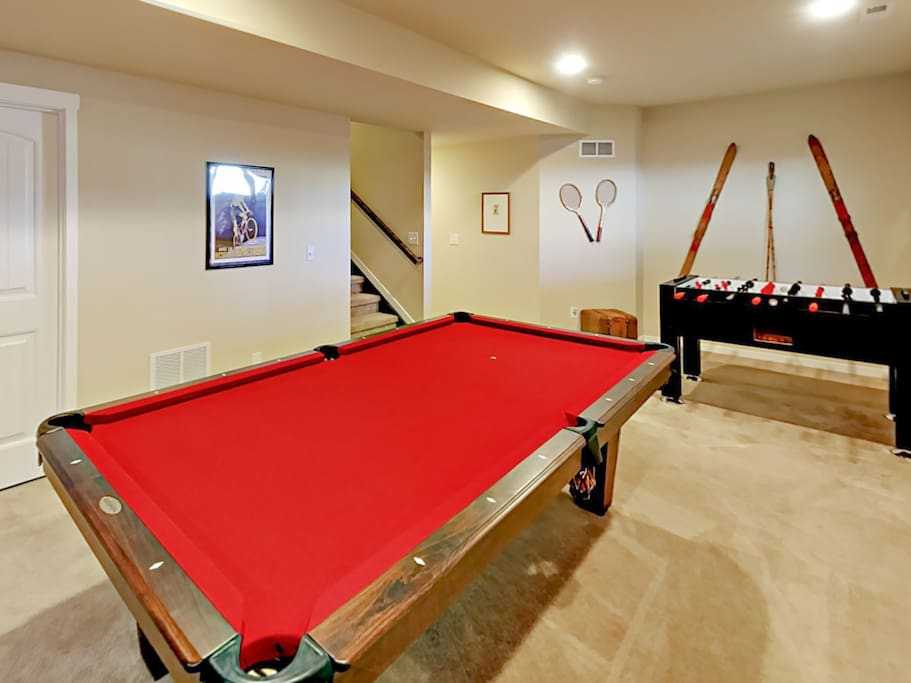 Pool and foosball tournaments are in store after a day skiing Granby Ranch.
