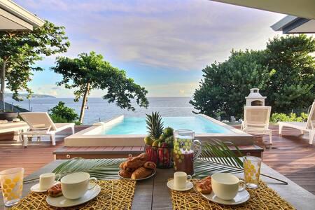 Villa front de mer, piscine, tortues & dauphins