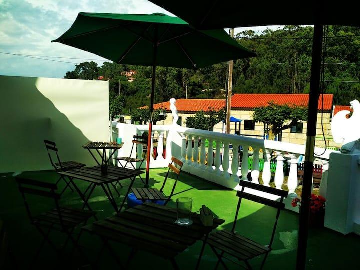 Habitación doble c/baño en San Vicente