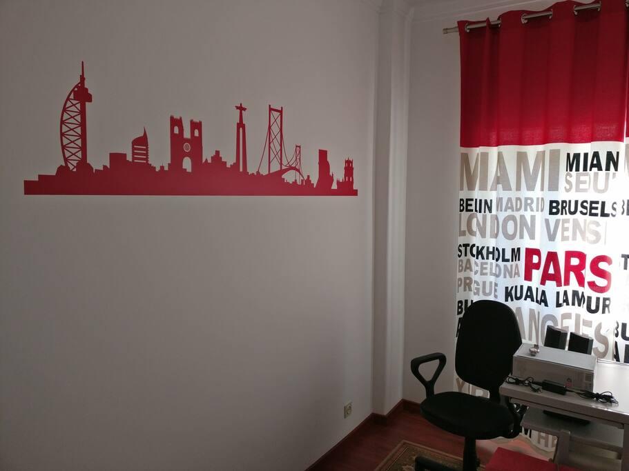Um dos futuros quartos