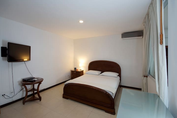 Master bedroom with in suite private bathroom! AC