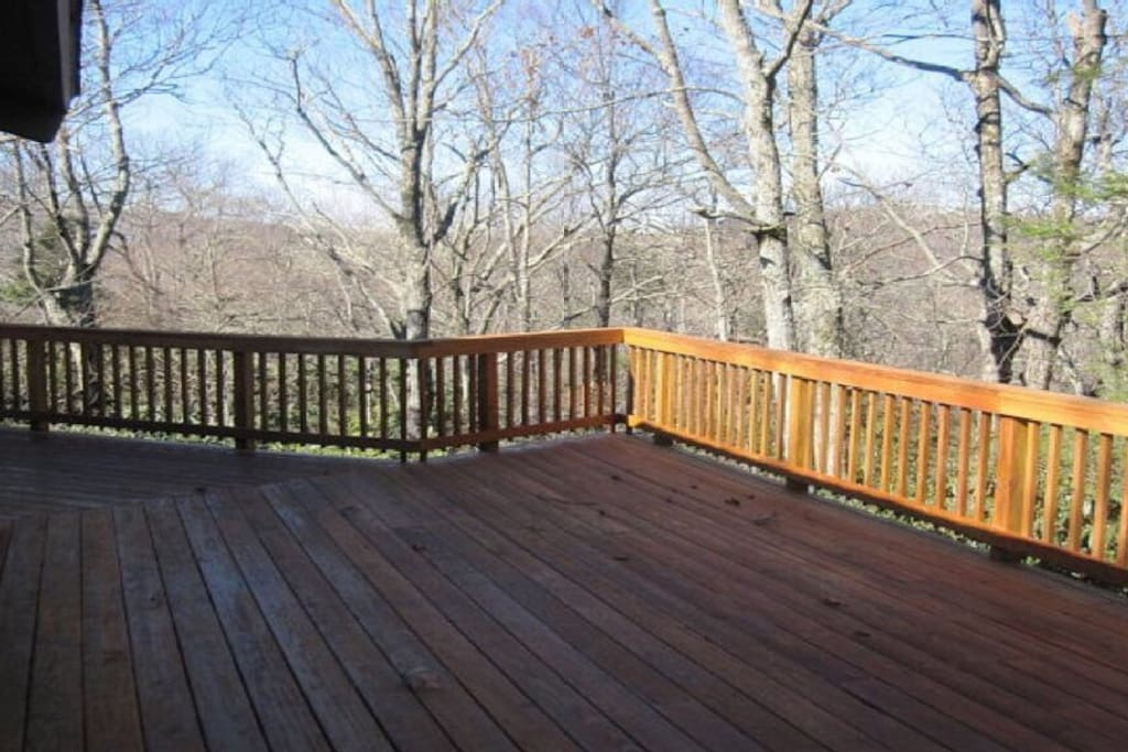 Enjoy the huge wraparound deck!
