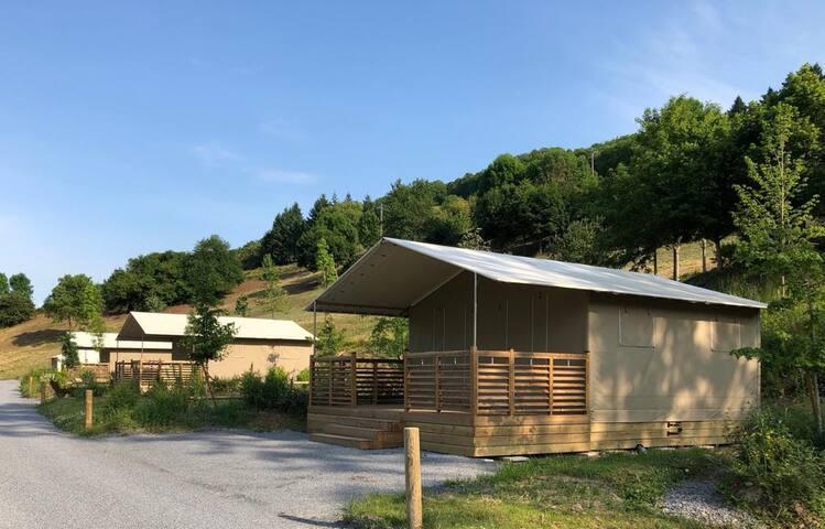 Camping de la vallée du Rance, Aveyron, lodge C