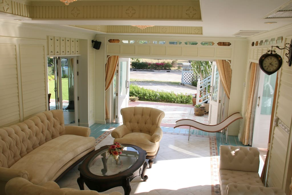 Well Furnished, Big Living Room, with Garden View