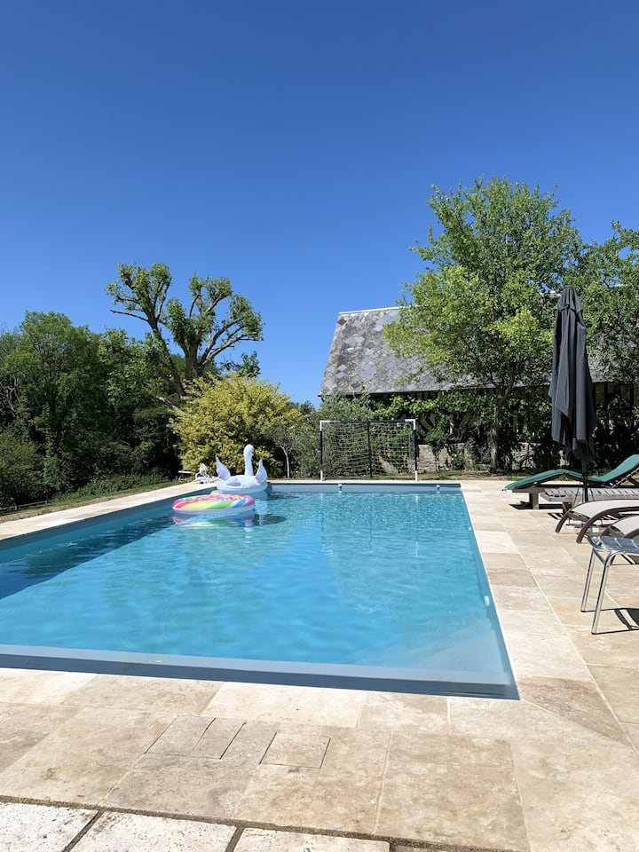 Villa with 6 bedrooms in Gonneville sur Mer, with private pool, furnished garden and WiFi - 4 km from the beach