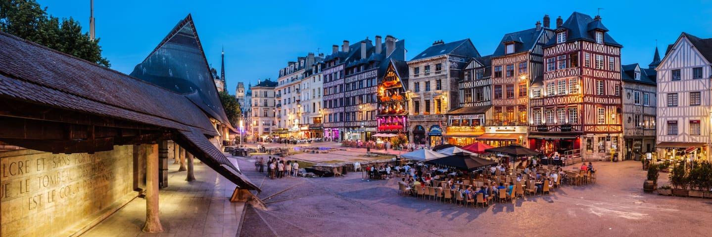 Appartement de charme hyper centre Rouen - Rouen - Apartamento