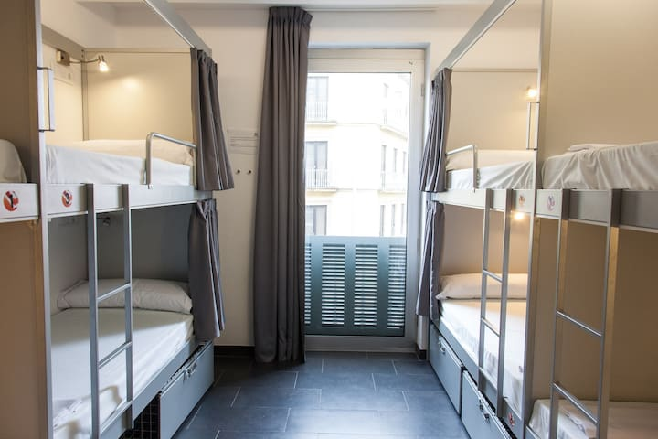 Bed in 12-Bed Dorm