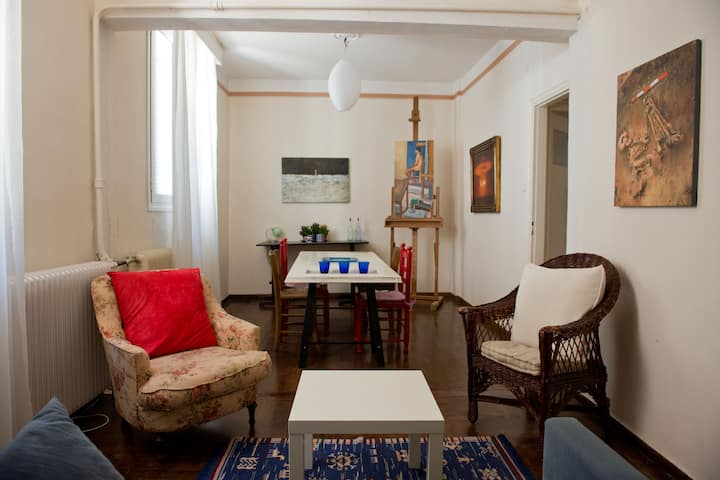 Downtown artistic retreat, Neapoli, Central Athens