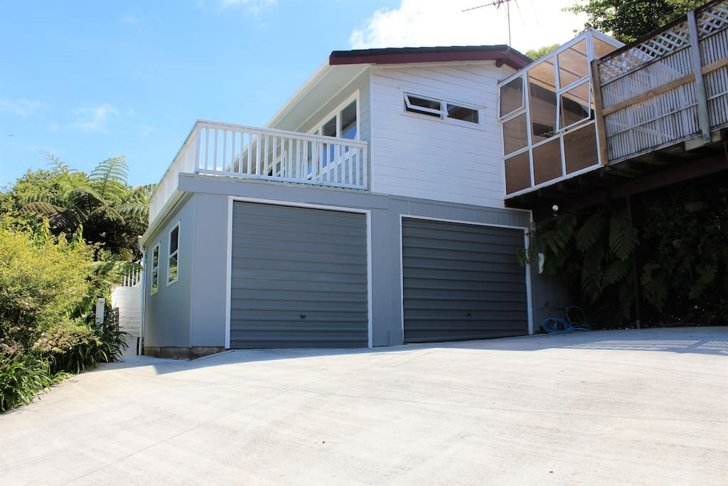 If you have a car, you can park in our right garage at the top of our driveway.