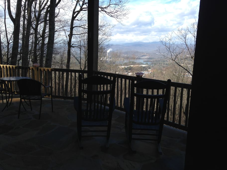 Your private patio and view March 1, 2017.