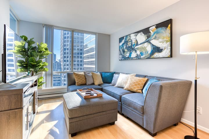 💎Central sophisticated 1bed/1bath💎 + PARKING