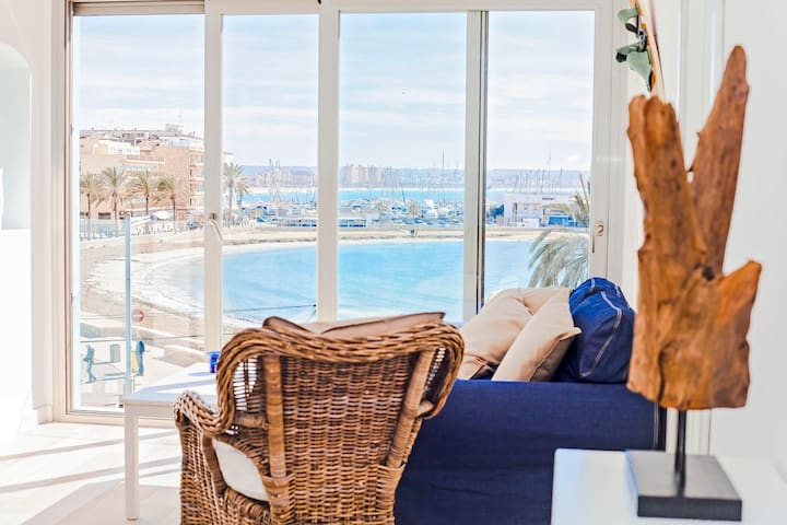 Huge Duplex- Terrace sea front!!!!- Can Pastilla