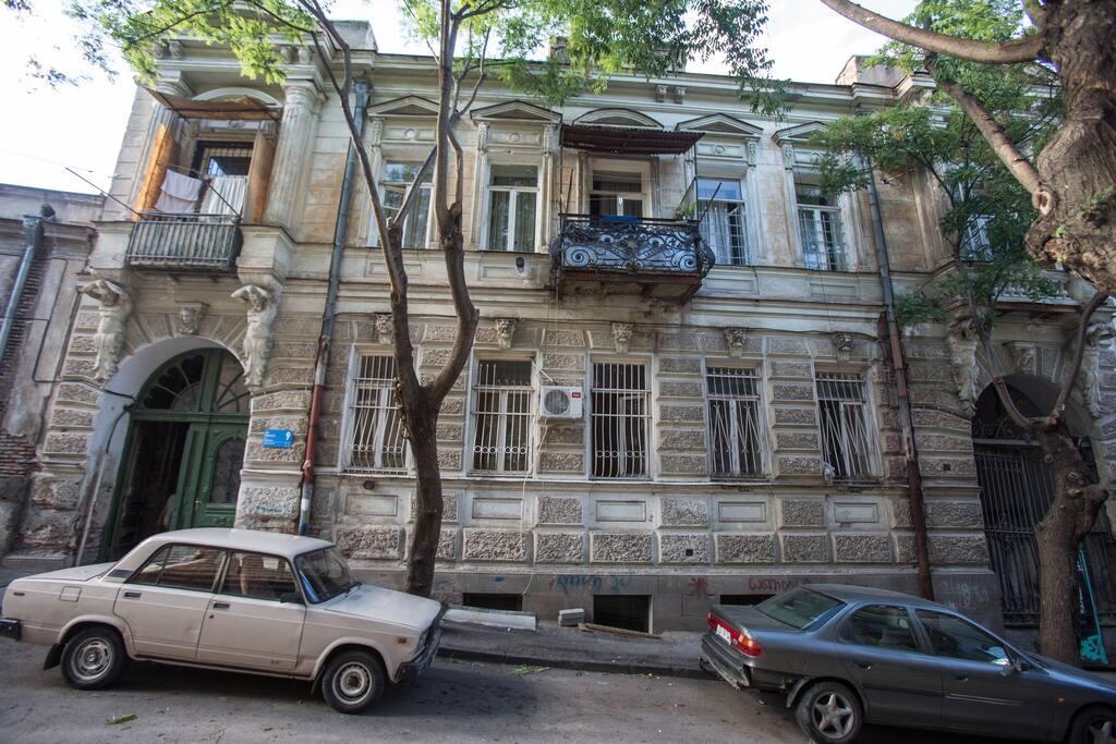 19th century historic building facade