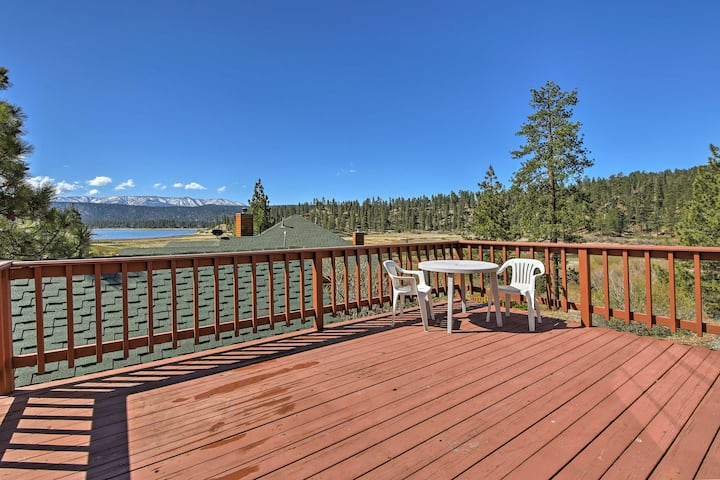 Cabin w/Deck & Views Steps from Big Bear Lake