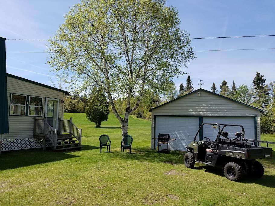Garage fits 6 Sleds or ATVs