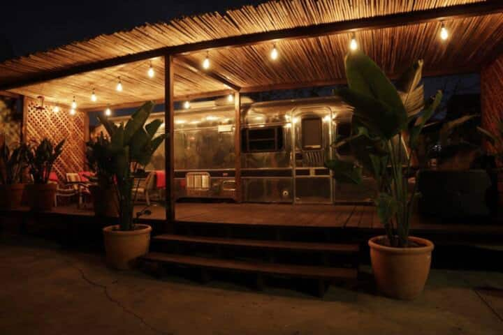 Maryplaces Vintage Airstream with patio. Koreatown